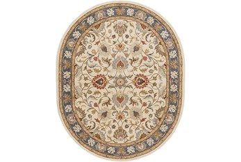 6'x9' Oval Rug-Traditional Multicolor
