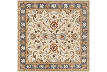 8'x8' Square Rug-Traditional Multicolor