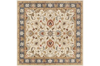 117X117 Square Rug-Traditional Multicolor