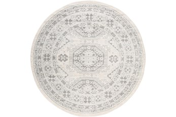 63 Inch Round Rug-Global Muted Grey And Khaki