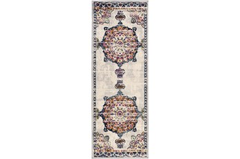 31X87 Rug-Traditional Bright Multicolored