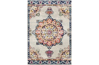 94X123 Rug-Traditional Bright Multicolored