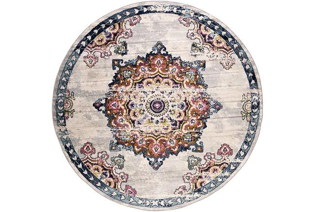 "7'9"" Round Rug-Traditional Bright Multicolored - 360"