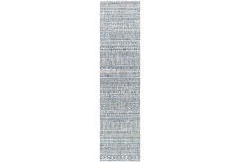 "2'6""x10' Rug-Global Denim Stripe"