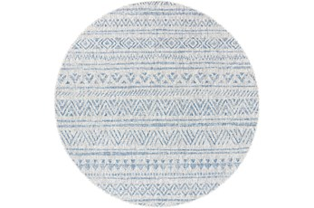 63 Inch Round Rug-Global Denim Stripe