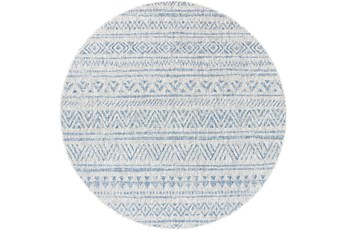 94 Inch Round Rug-Global Denim Stripe
