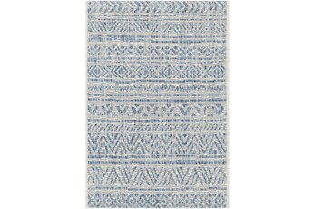 106X144 Rug-Global Denim Stripe