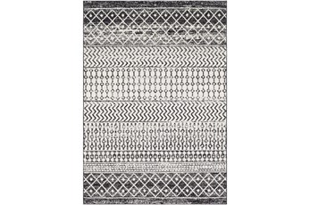 24X36 Rug-Global Black And Grey Stripe