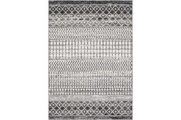 "5'3""x7'5"" Rug-Global Black And Grey Stripe"