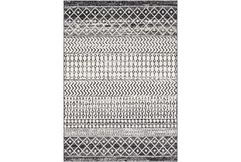 """5'3""""x7'5"""" Rug-Global Black And Grey Stripe"""