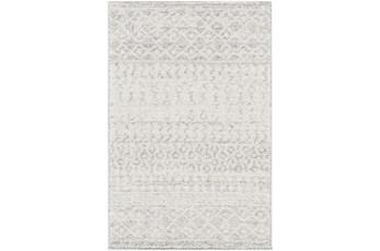 120X168 Rug-Global Grey And White Stripe
