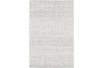 2'x3' Rug-Global Grey And White Stripe