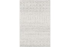 "3'9""x5'6"" Rug-Global Grey And White Stripe"