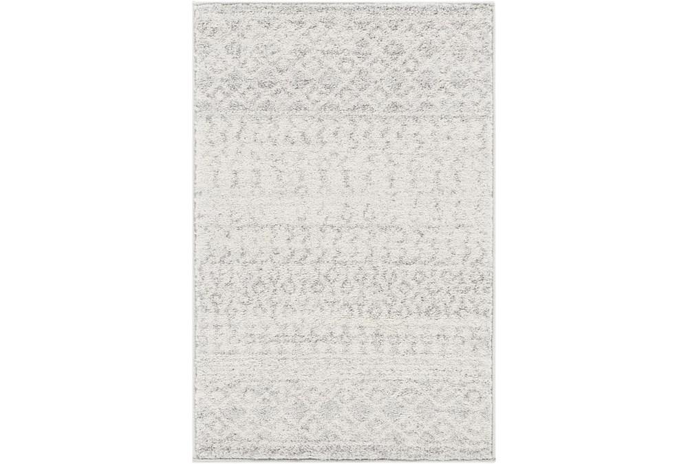 3'x5' Rug-Global Grey And White Stripe