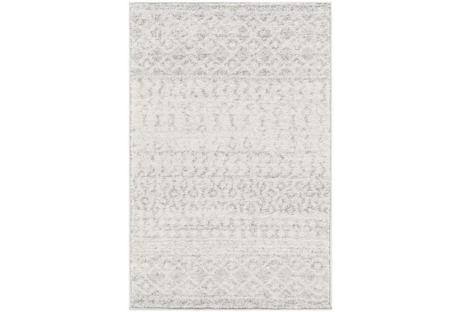 "5'3""x7'5"" Rug-Global Grey And White Stripe - 360"
