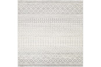 94X94 Square Rug-Global Grey And White Stripe