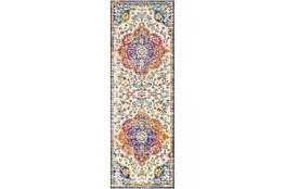 31X90 Rug-Traditional Bright Multicolored