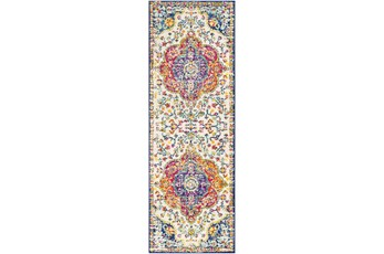 31X90 Rug-Traditional Bright Multicolored