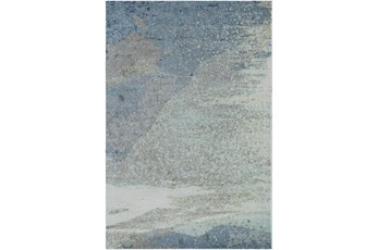 4'x6' Rug-Modern Blue Multicolored
