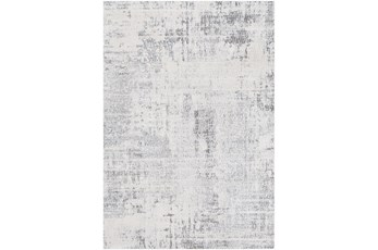 24X35 Rug-Modern High/Low Pale Grey/Blues