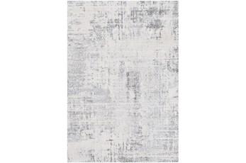 79X108 Rug-Modern High/Low Pale Grey/Blues