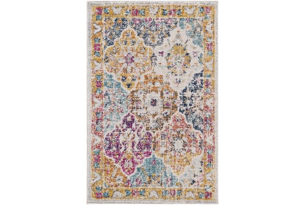 """3'9""""x5'6"""" Rug-Traditional Bold Multicolor"""