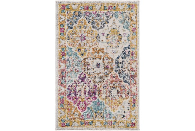 3'x5' Rug-Traditional Bold Multicolor - 360