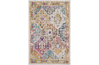 108X150 Rug-Traditional Bold Multicolor