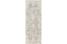 "2'6""x10'3"" Rug-Traditional Soft Greys"