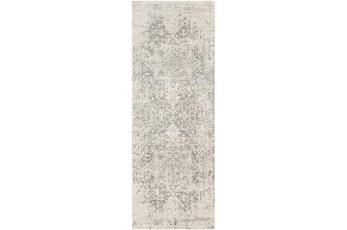 31X144 Rug-Traditional Soft Greys