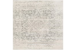 "6'5""x6'5"" Square Rug-Traditional Soft Greys"