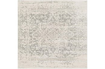 79X79 Square Rug-Traditional Soft Greys