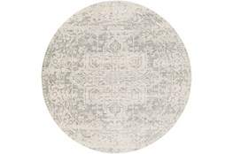 94 Inch Round Rug-Traditional Soft Greys