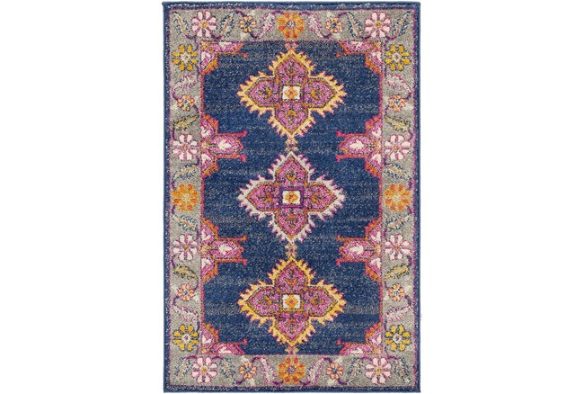 """3'9""""x5'6"""" Rug-Traditional Bold Multicolor - 360"""