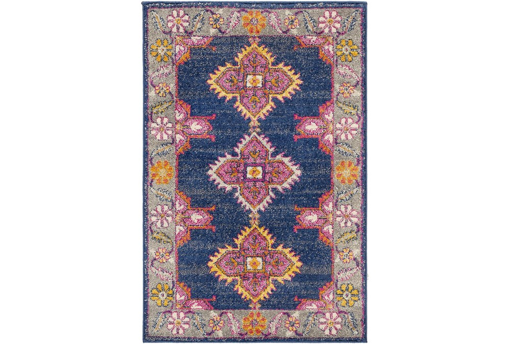 """5'3""""x7'3"""" Rug-Traditional Bold Multicolor"""