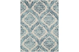 """3'9""""x5'6"""" Rug-Cottage Blue And Ivory"""