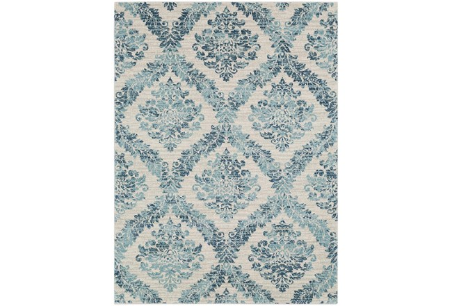 47X67 Rug-Cottage Blue And Ivory - 360