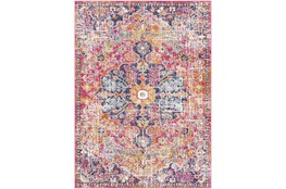 63X87 Rug-Traditional Bright Pink/Multicolored
