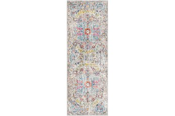 """2'6""""x7'3"""" Rug-Traditional Blue/Multicolroed"""