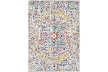 79X108 Rug-Traditional Blue/Multicolroed