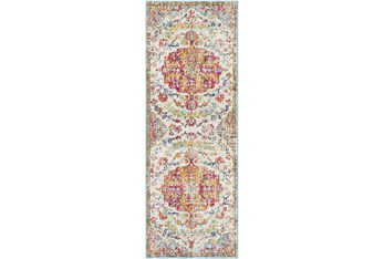 """2'6""""x7'3"""" Rug-Traditional Multicolored"""