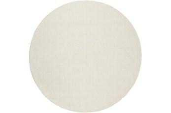 72 Inch Round Rug-Modern Cream