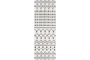 31X120 Rug-Global Black And White