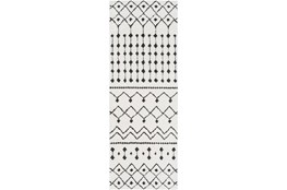 "2'6""x12' Rug-Global Black And White"