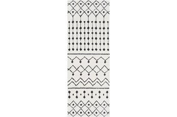 31X144 Rug-Global Black And White