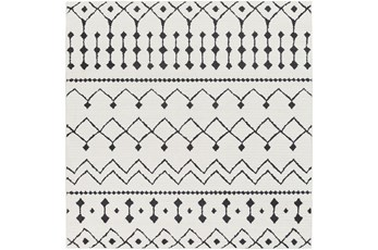 79X79 Square Rug-Global Black And White