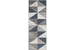 "2'6""x7'3"" Rug-Modern Triangle Greys And White"