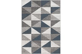"3'9""x5'6"" Rug-Modern Triangle Greys And White"