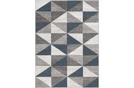 63X87 Rug-Modern Triangle Greys And White