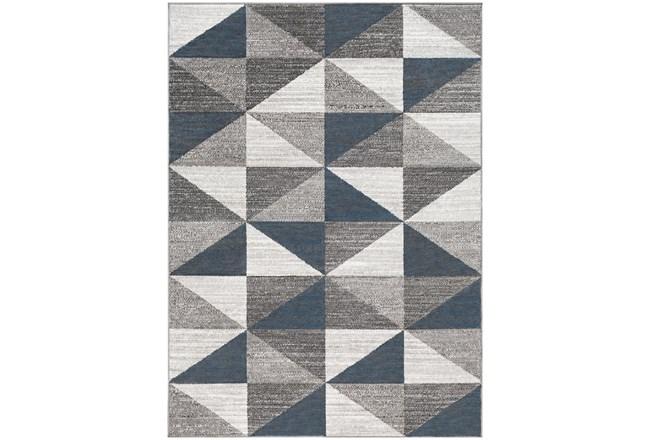 108X144 Rug-Modern Triangle Greys And White - 360